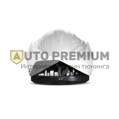 Автобокс на крышу Белый Turino Sport (480 л) Аэродинамический с двусторонним открыванием на крышу автомобиля